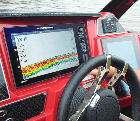 Hummingbird Helix 7 Chirp Mega DI GPS G3N (dash & bow). Hummingbird network kit available.